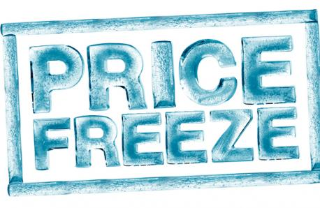 Price Freeze - 3rd Year Running!