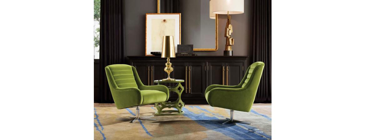 Green Swivel Chair