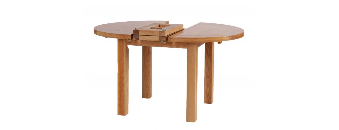 Round Extension Dining Table 1.1 - 1.4