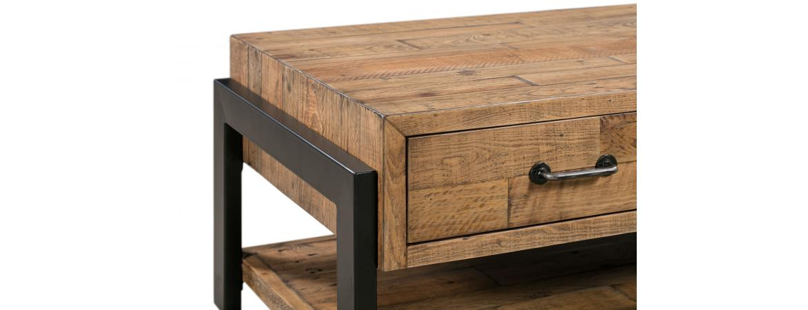 Coffee Table with 2 Drawers & a Shelf