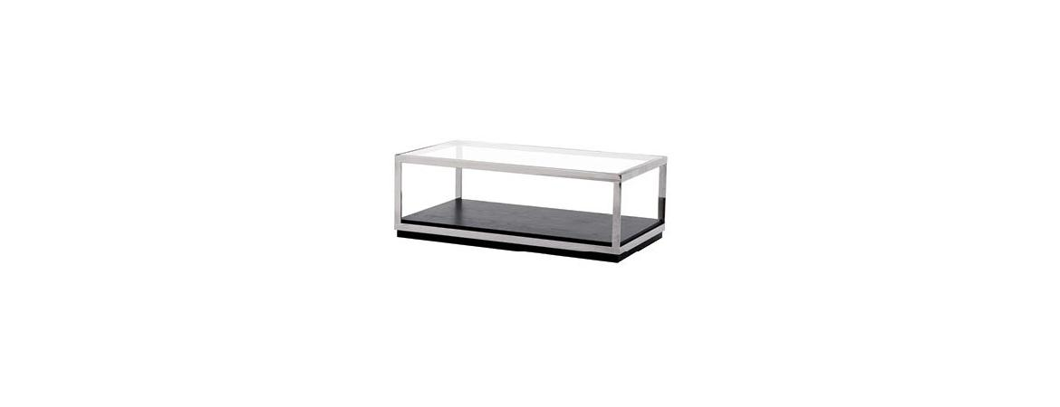 Crawford Metal Frame Glass Coffee Table