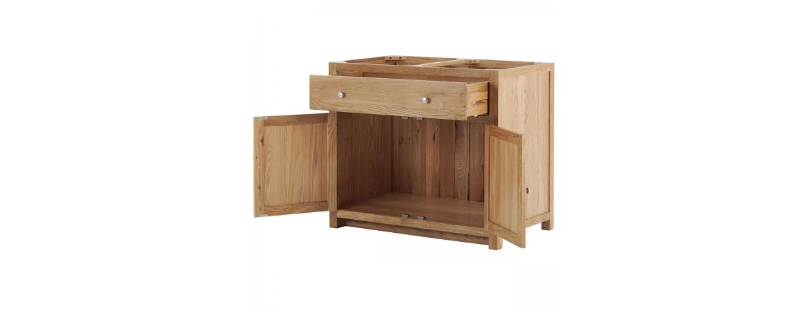 2 Door 1 Drawer Cabinet with soft close drawers