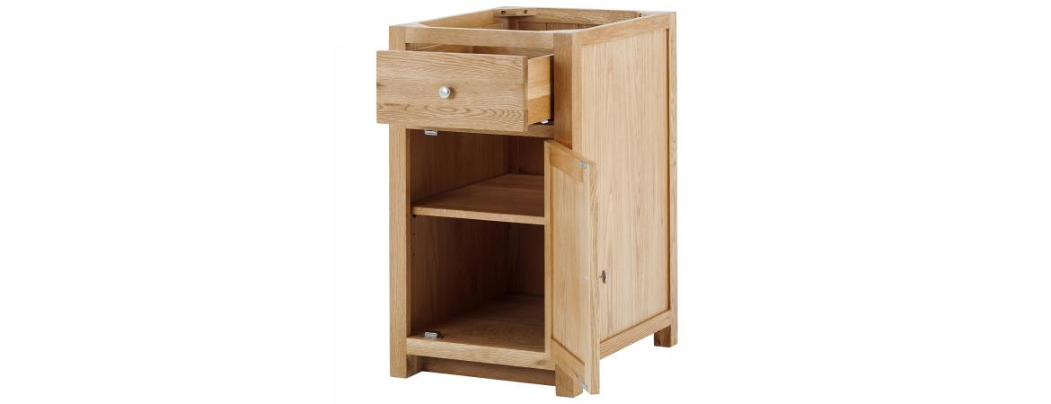 Right 1 Door 1 Drawer Cabinet with soft close drawers