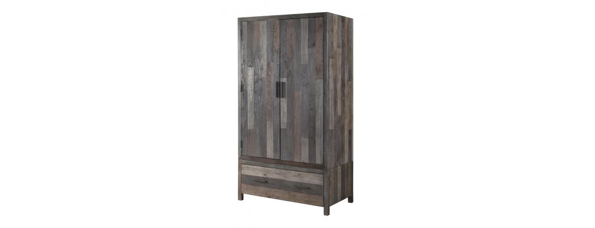 Wardrobe with 2 Doors & 1 Drawer