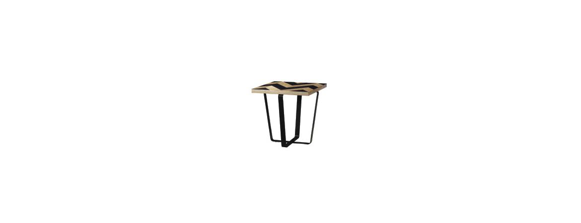 Harlow Black Wave Collection End Table