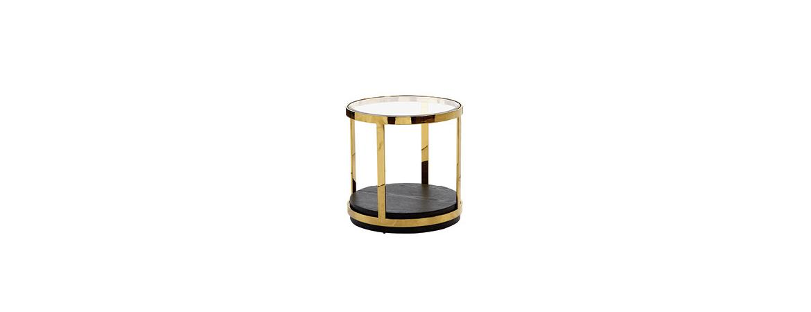Dietrich Glass Top End Table