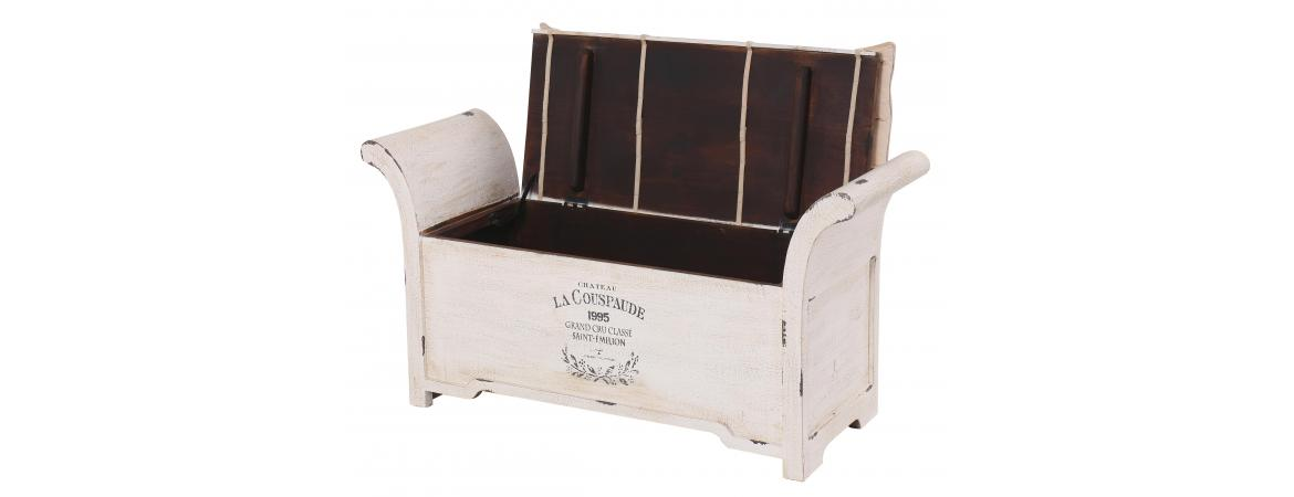 Vintage Storage Trunk With Cushion
