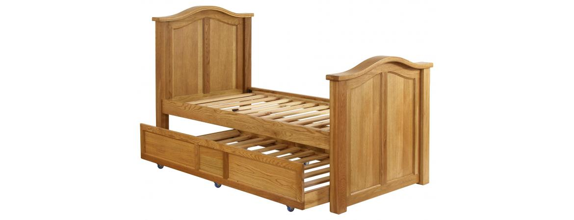 3ft Pull Out Single Bed with Panelled Head Board