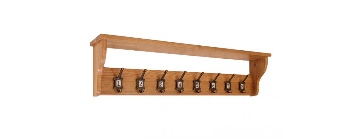 School Coat Rack with 8 Hooks