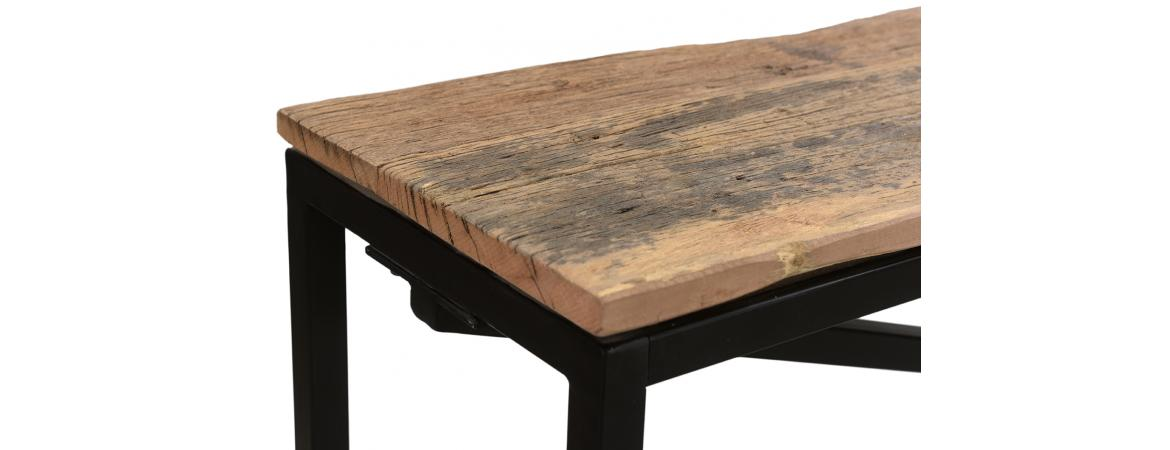Reclaimed Wood Straight Leg Dining Table 2m