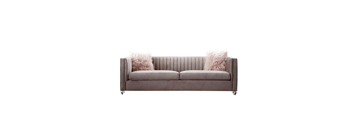 Crawford Pink 3-Seater Sofa