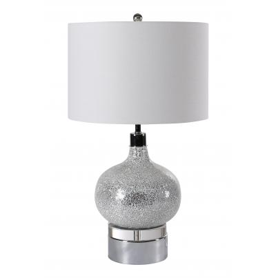 Round Globe Textured Table Lamp