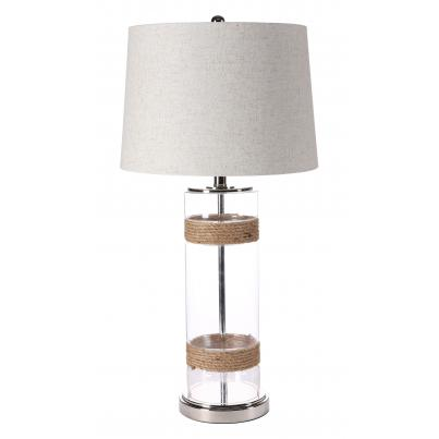 Glass & Rope Table Lamp