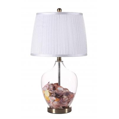 Shell Filled Table Lamp