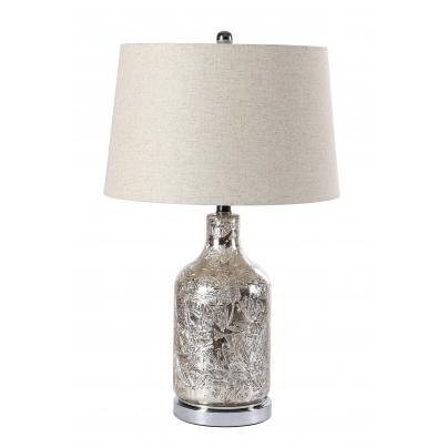 Metallic Cracked Glass Table Lamp