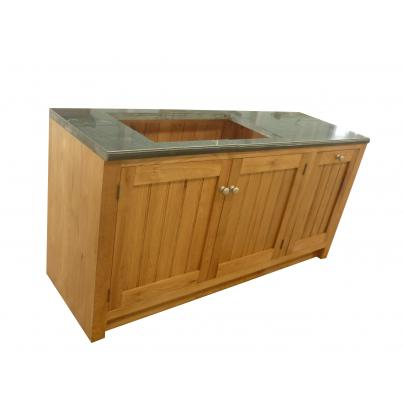 Granite Sink Unit with 3 Doors & 2 Removable Shelves