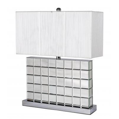 Mirrored Block Table Lamp