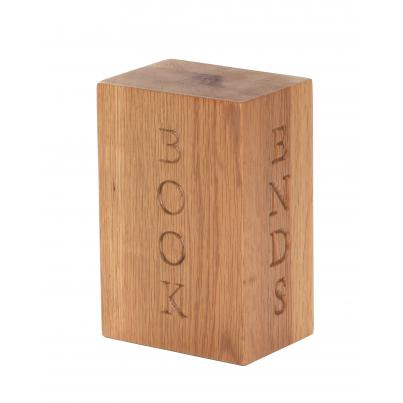 Bookend with 'BOOK ENDS' Engraved