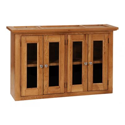 Wall Cabinet with 2 Fixed Shelives & 4 Glazed Doors