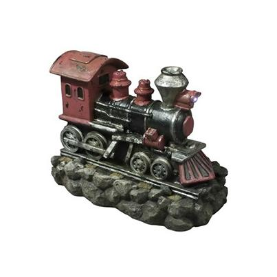 Small Red Steam Train Water Feature