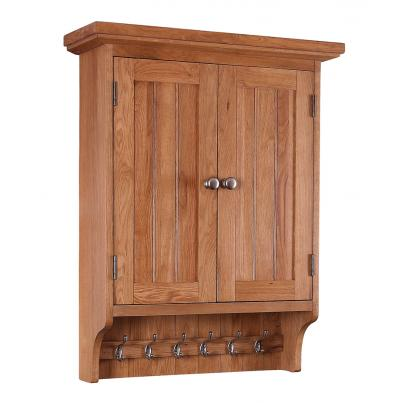Wall Cabinet with 2 Doors & 6 Hooks