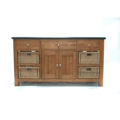 Large Granite Island with 3 Drawers & 4 Doors