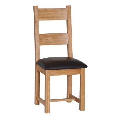 Dining Chair with Chocolate PU Seat