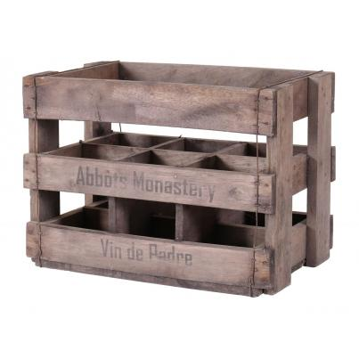 Wine Crates for 6 Tall Bottles - Abbots Monastery