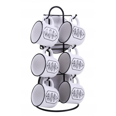 Pack of 8 - Set of 6 3.5inch Mugs with Mug Tree