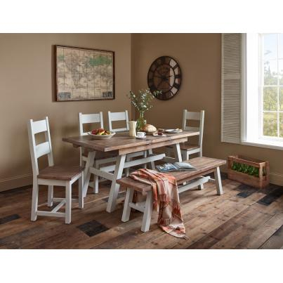 Hamptons Dining Set 1 Table with 2 Benches