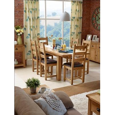 Vancouver Select Extending Dining Set 1 Table with 6 Chairs