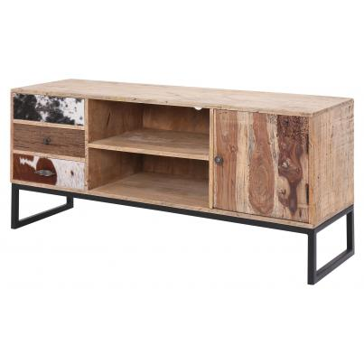 3 Drawer 1 Door TV Unit Reclaimed Wood