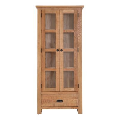 2 Door 1 Drawer Glazed Display Cabinet