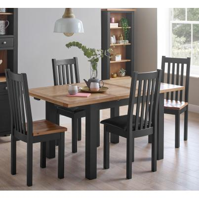 Dining Set - 1 Table with 2 Timber Seat & 2 Leather Seat Dining Chairs (BGSO017 & BGSOR018 & BGSOR019)