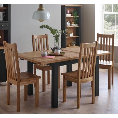 Dining Set - 1 Table with 4 Timber Seat Dining Chairs (BGSOR017 & SOR018)