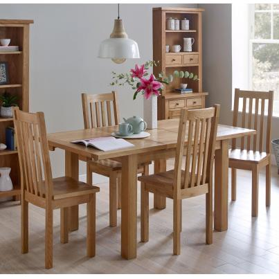 Dining Set - 1 Table with 4 Timber Seat Dining Chairs