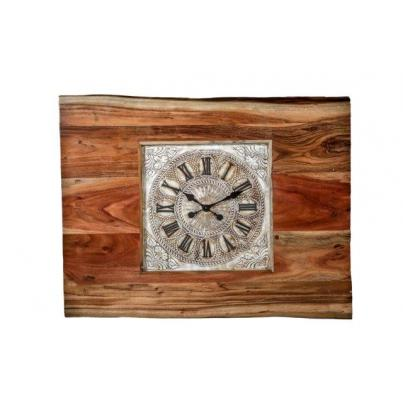 Rectangle Iron Side Table Clock