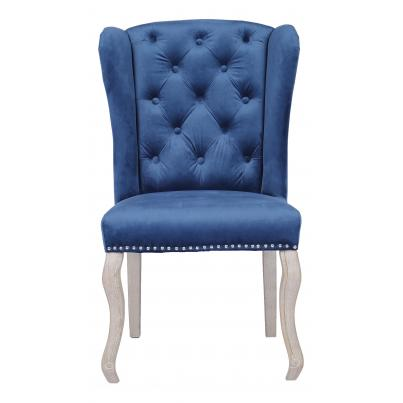 Pack of 2 - Dark Blue Dining Chair with Studded Detail & Knocker
