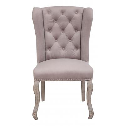Pack of 2 - Light Grey Dining Chair with Studded Detail & Knocker