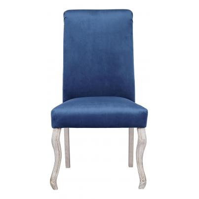 Pack of 2 - Dark Blue Dining Chair with Knocker