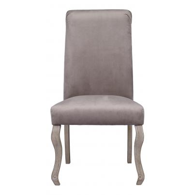 Pack of 2 - Light Grey Dining Chair with Knocker