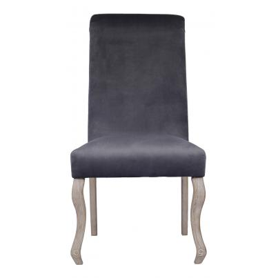 Pack of 2 - Dark Grey Dining Chair with Knocker