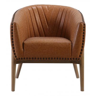 Pack of 2 - Brown Ribbed Chair KD