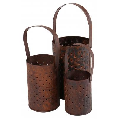 Set of 3 Original Iron Pots with Handle