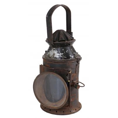 Pack of 2 - Original Vintage Iron Railway Lantern