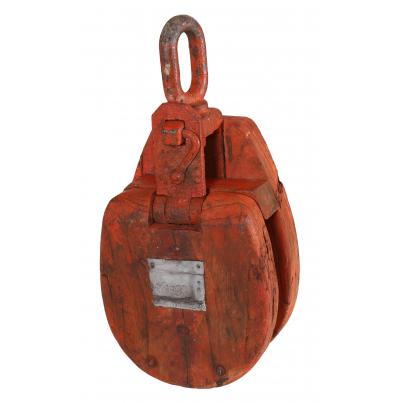 Iron & Wood Pulley