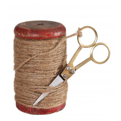 Vintage Spool with Jute and Scissor