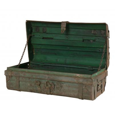 Vintage Upcycled Suitcase with 2 Clay Planters