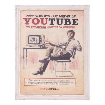 Vintage Inspired YouTube Framed Print