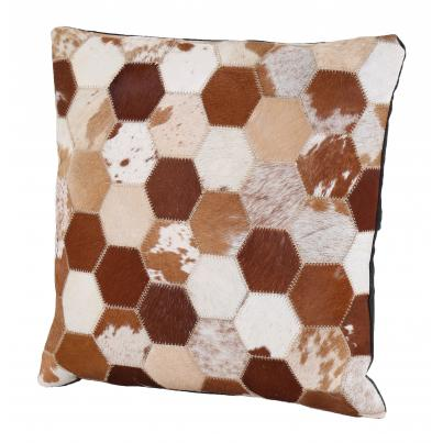 Patchwork Leather Cushion